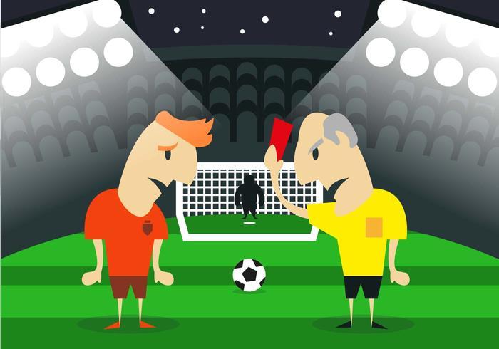 Umpire Soccer Red Card Illustration Vector