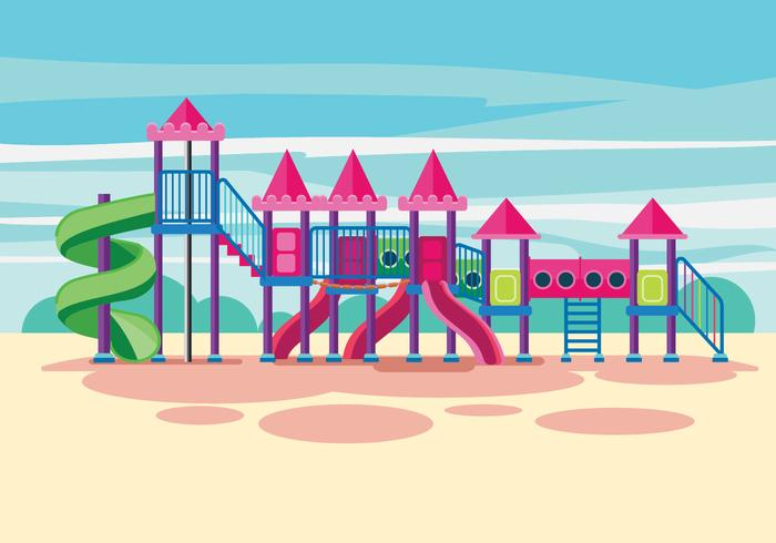 Childrens Jungle Gym Illustration
