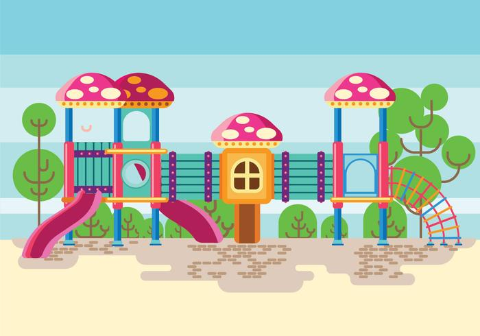 Colorful Playground or Jungle Gym for Childrens