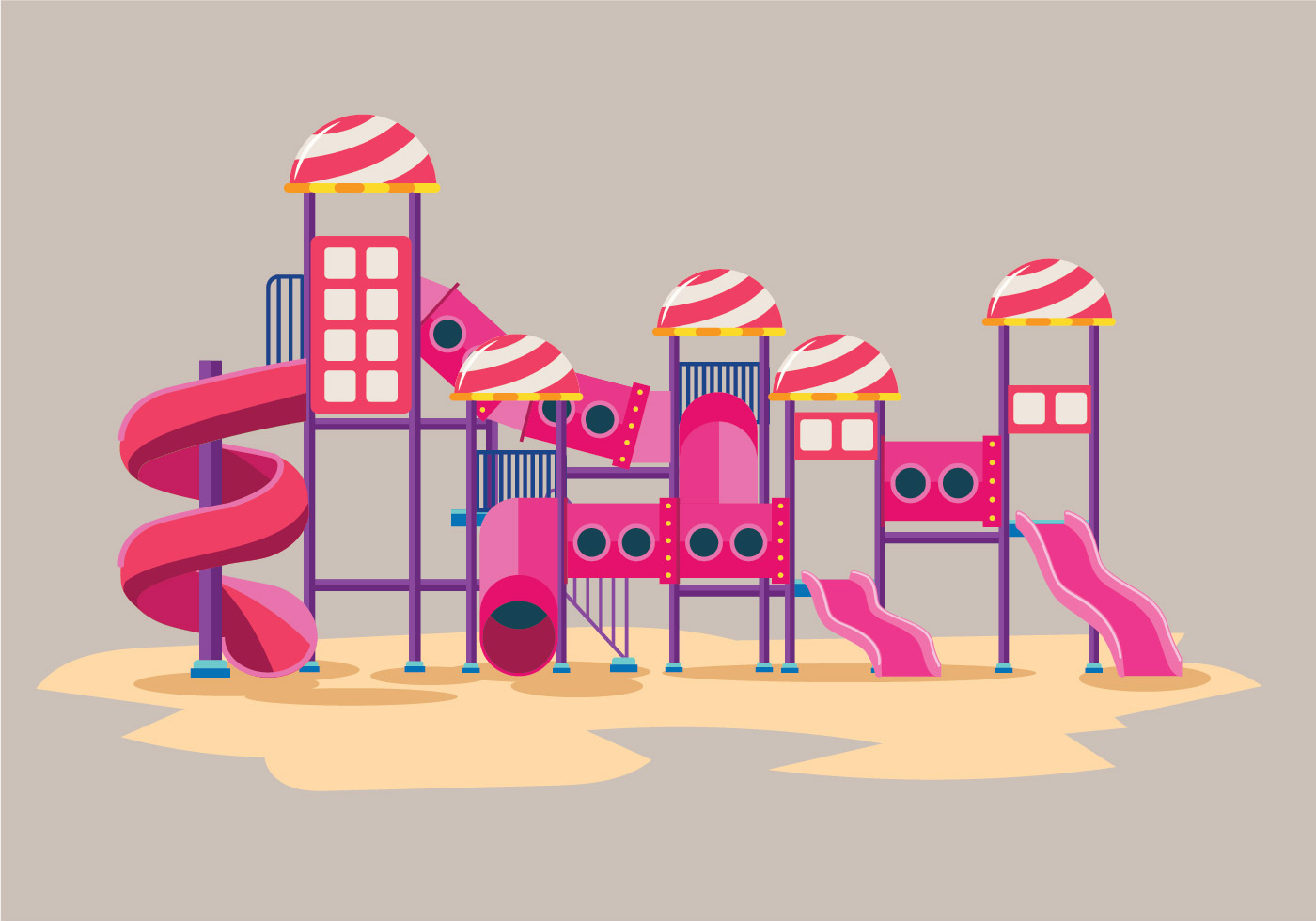 Playground Slide Illustration