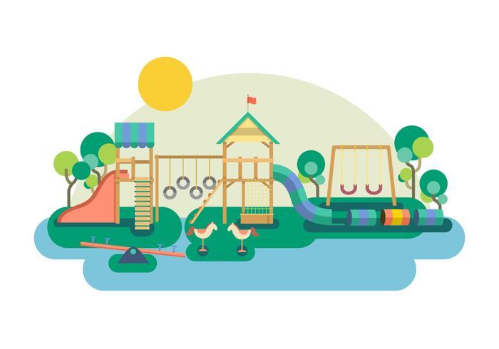 Free Jungle Gym Vector Illustration
