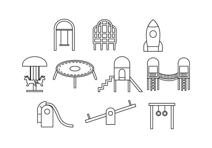 Gratis Playground Line Icon Vector