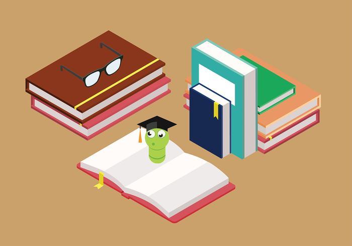 Bookworm Gratis Vector