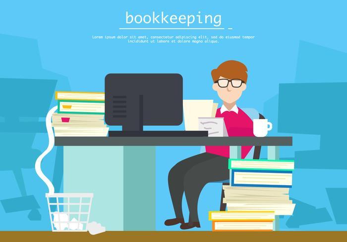 La contabilidad en la ilustración de la oficina