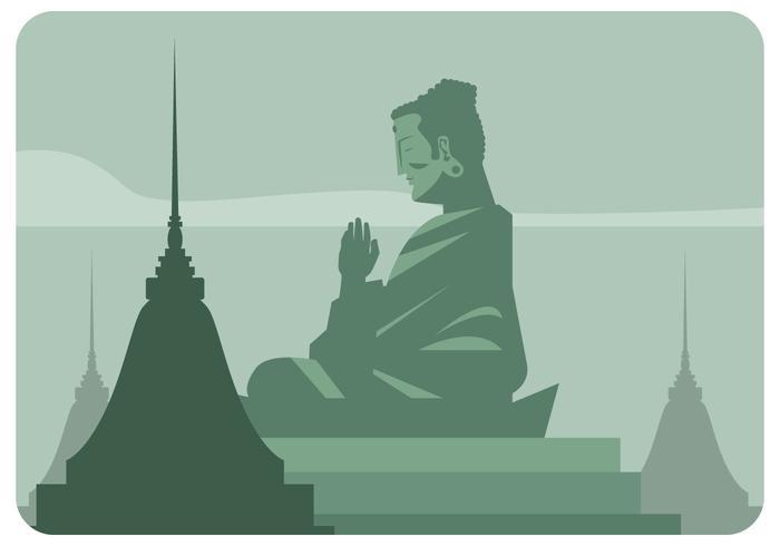 Vector del templo de Buda