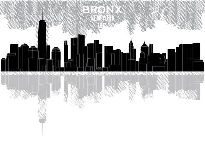 Silueta del horizonte del Bronx