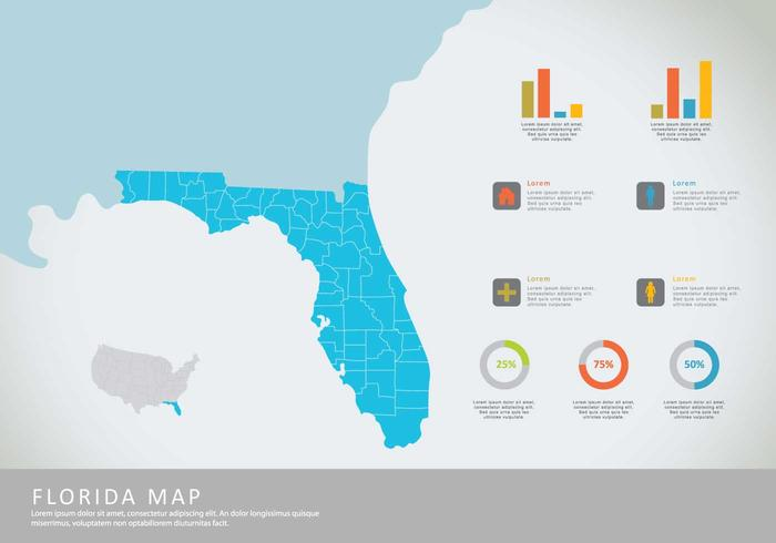 Free Florida Map Illustration