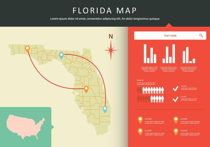 Gratis Florida Map Illustration