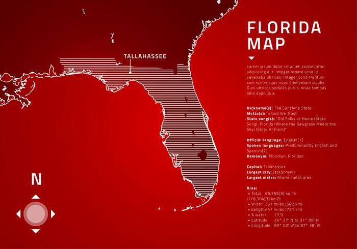 Florida map tech free vector