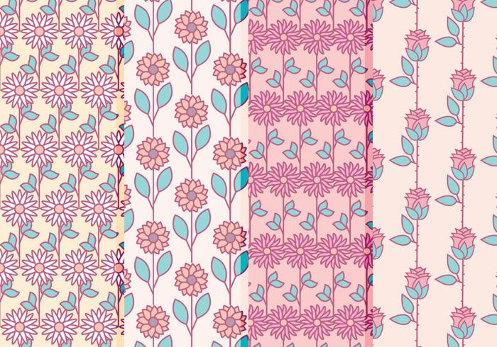 Vector Floral Patterns Collection