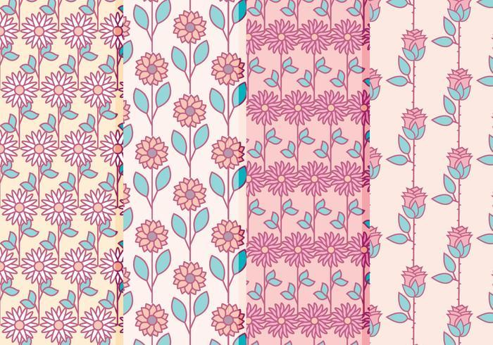 Collection de motifs floraux vectoriels