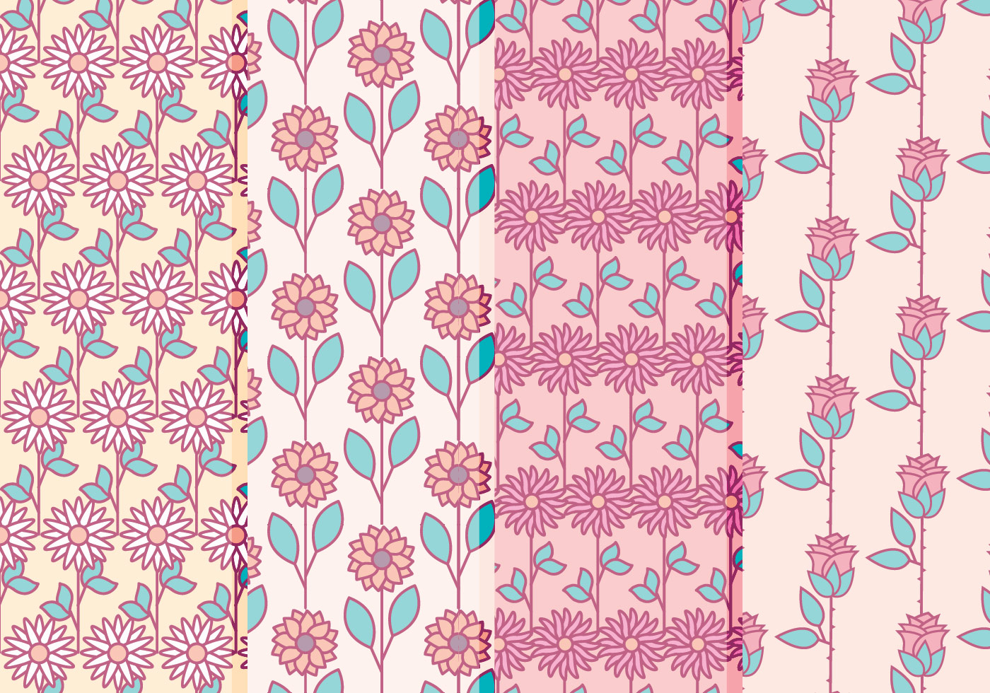 Vector Floral Patterns Collection Download Free Vectors Clipart