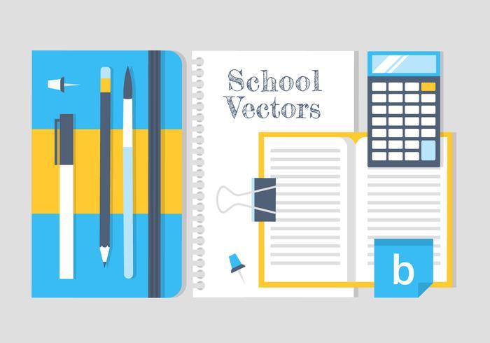 Elementos e ícones vetoriais de educação gratuita
