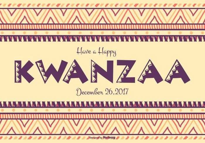 Colorful Happy Kwanzaa Illustration