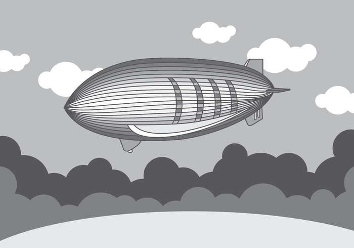 Monochrome Dirigible Vector