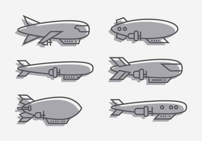 Dirigible Outline Vector