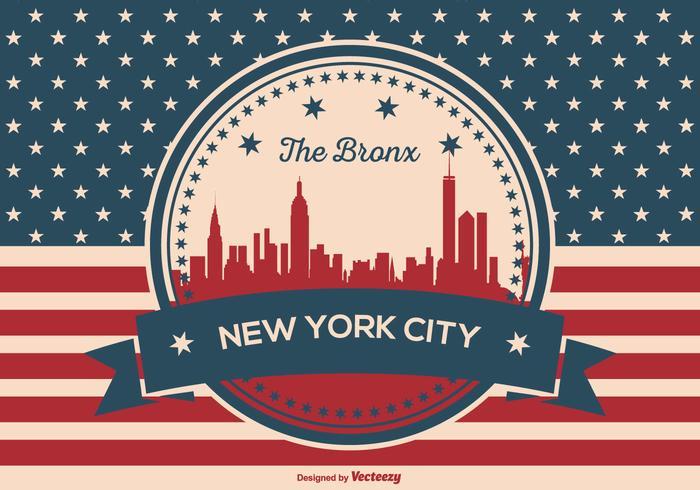 The Bronx,New York City Illustration