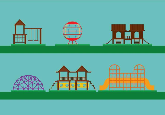 Jungle gym vector set