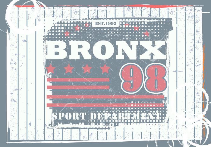Vintage Grunge Bronx Illustration