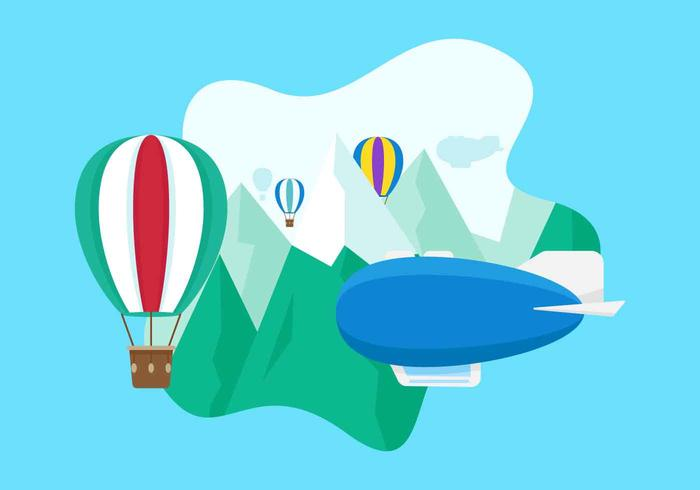 Free Unique Dirigible Vectors