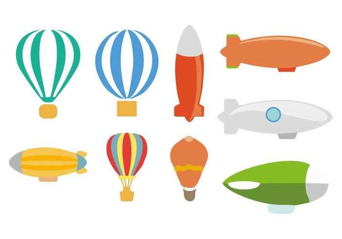 Free Dirigible Balloon Vector