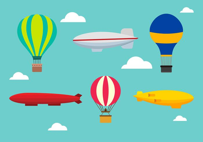 Dirigible set free vector