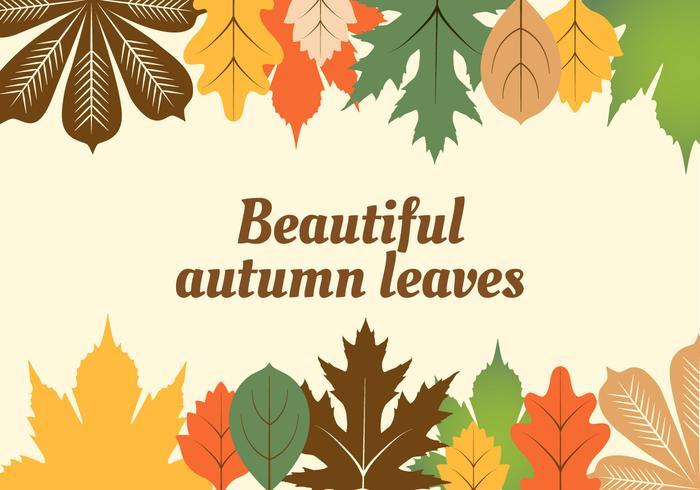 Free Flat Design Vector Autumn Background