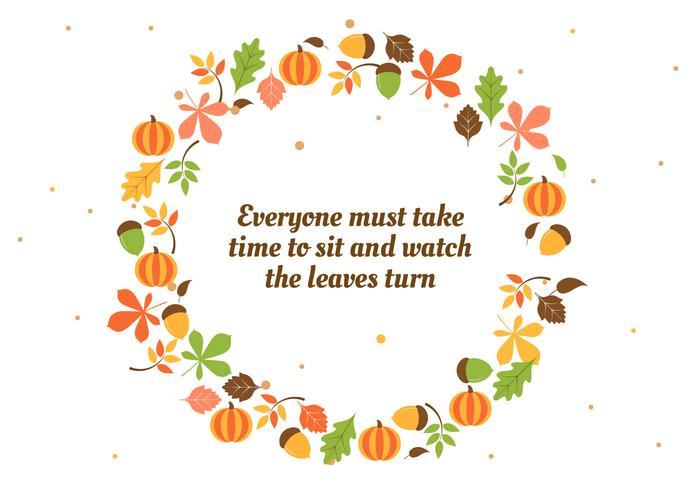 Free Flat Design Vector Autumn Background