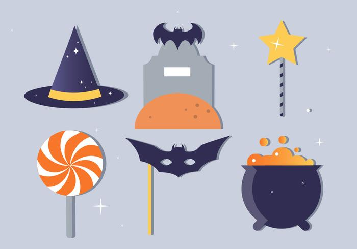 Free Flat Design Vector Halloween Elements and Icons