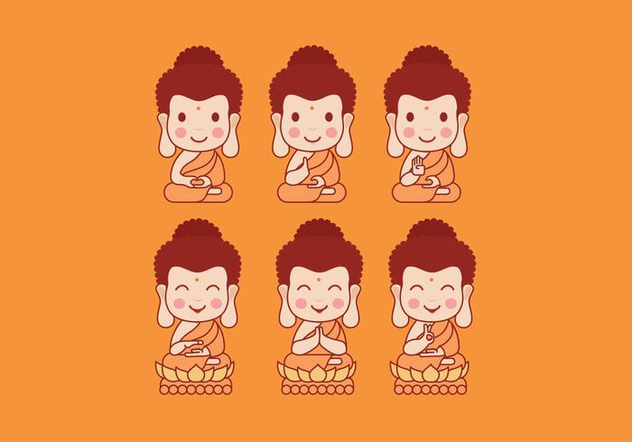 Buddah Cartoon Vector