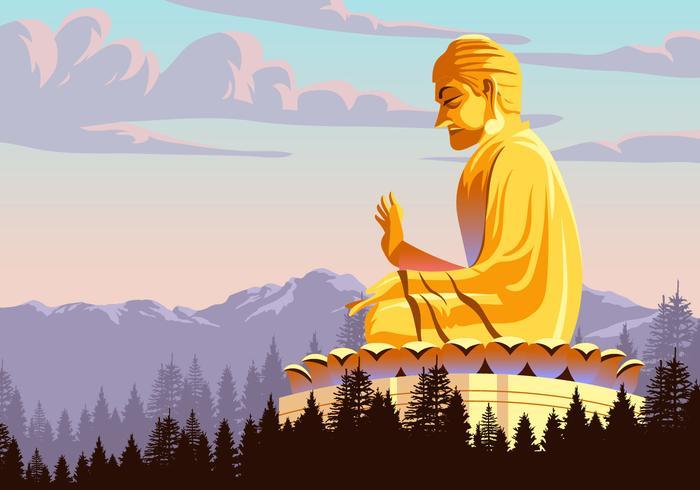Vector Statue de Bouddha