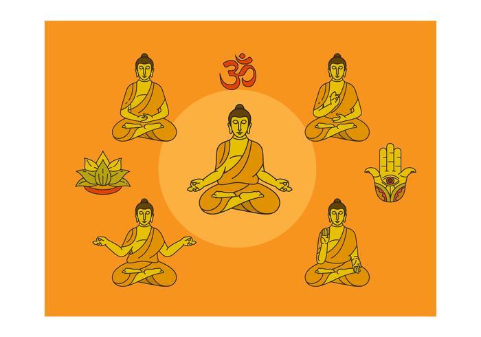 Freie Buddha Vektor-Illustration