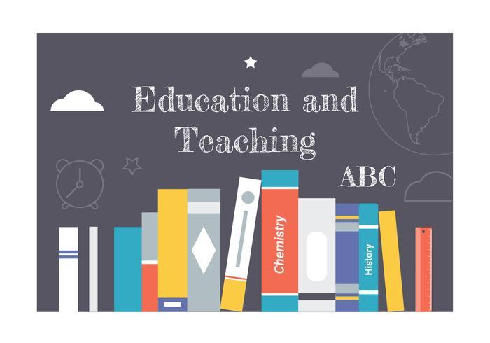 Elementos vetoriais de educação plana gratuita