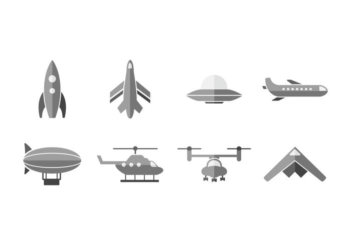 Airship vector icons