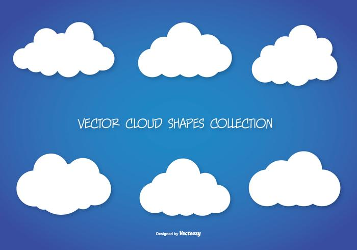 Vector Cloud Shapes Sammlung