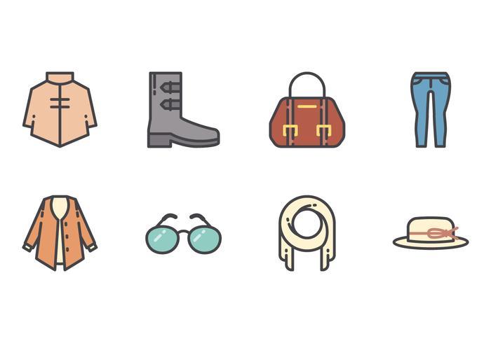 Women Fashion Line Icons