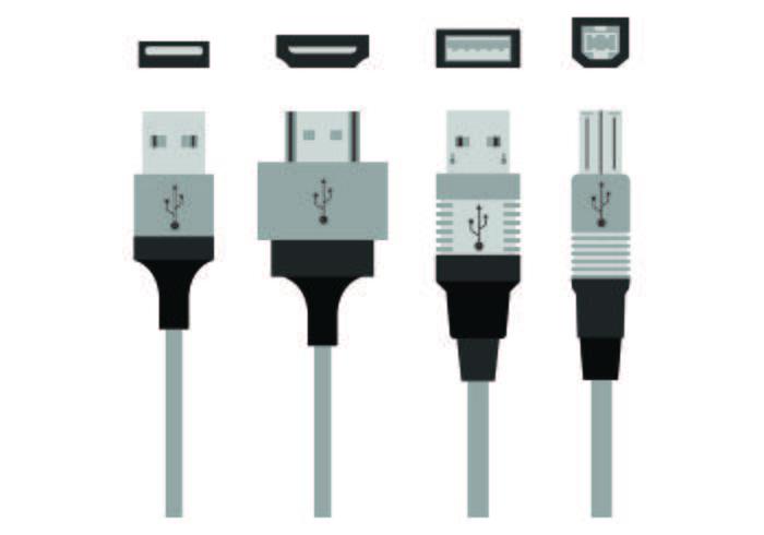 Conjunto de iconos de puerto USB