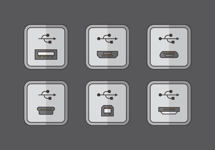 Usb Port Connection Vector