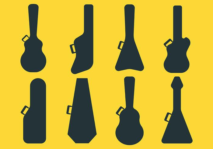 Guitar Case Vector Icons