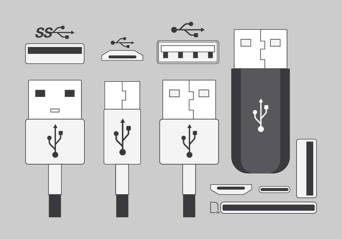 USB Port Pack Vector