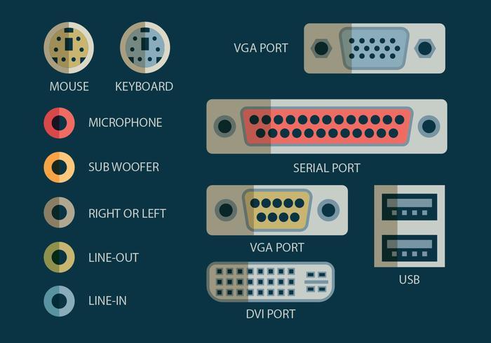 Icono del puerto USB vector
