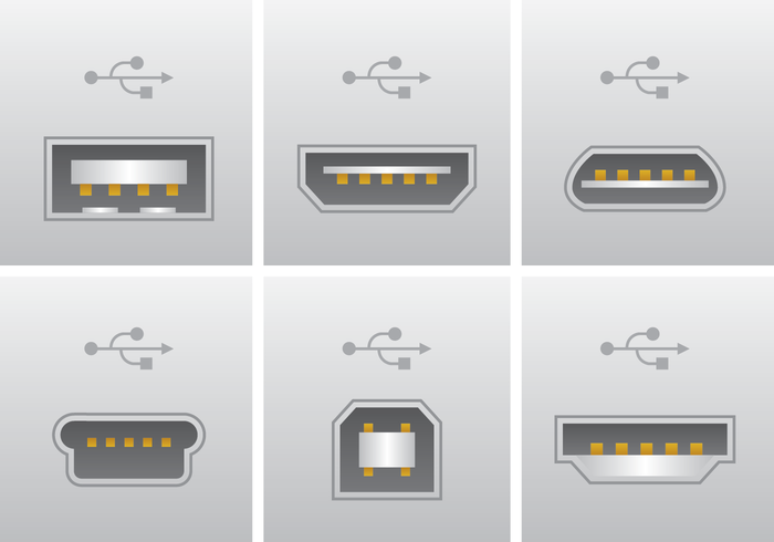 Realistic USB Port Connection Vector