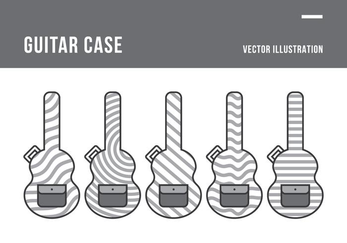 Guitar Case Vector Illustration