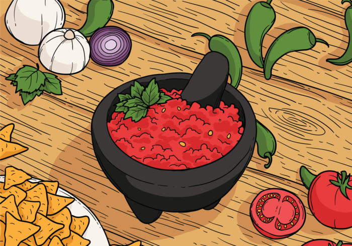 Molcajete Vector Illustration