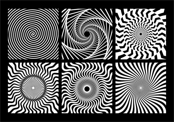 Spiral Monochrome Geometric Element