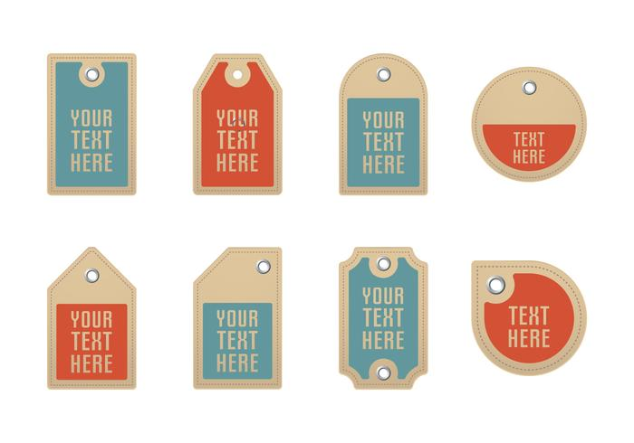 Cardboard Label Vectors With Eyelets