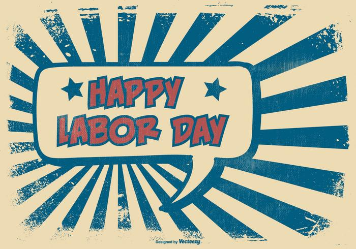 Comic Style Happy Labor Day Illustration