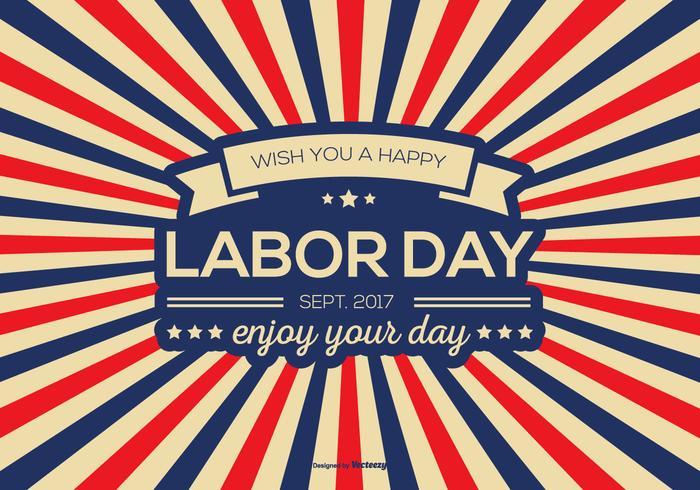 Retro Labor Day Vector Background
