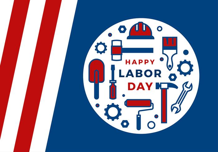 Labor Day Icon Greeting Vector