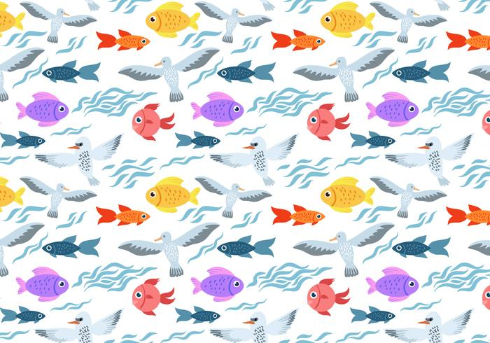 Free Sea Life Pattern Vector